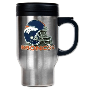 Denver Broncos 16oz Stainless Steel Travel Mug