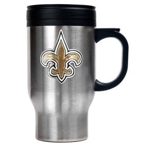 New Orleans Saints 16oz Stainless Steel Travel Mug