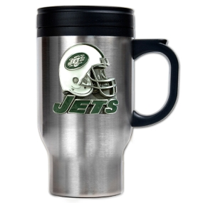 New York Jets 16oz Stainless Steel Travel Mug