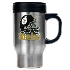 Pittsburgh Steelers 16oz Stainless Steel Travel Mug