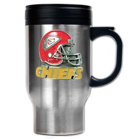 Kansas City Chiefs 16oz Stainless Steel Travel Mug