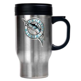 Florida Marlins Stainless Steel Travel Mug