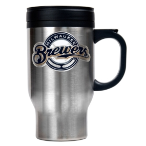 Milwaukee Brewers Stainless Steel Travel Mug