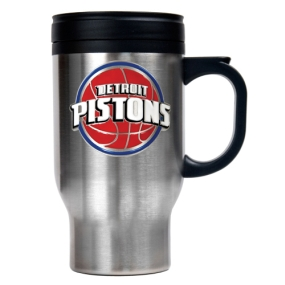 Detroit Pistons Stainless Steel Travel Mug