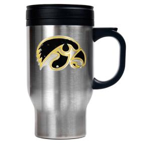 Iowa Hawkeyes 16oz Stainless Steel Travel Mug