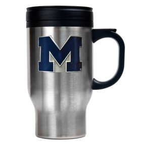 Michigan Wolverines 16oz Stainless Steel Travel Mug