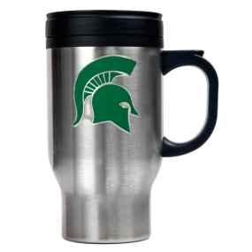 Michigan State Spartans 16oz Stainless Steel Travel Mug