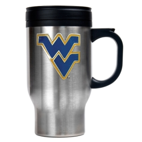 West Virginia Mountaineers 16oz Stainless Steel Travel Mug