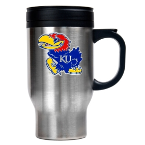 Kansas Jayhawks 16oz Stainless Steel Travel Mug