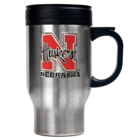 Nebraska Cornhuskers 16oz Stainless Steel Travel Mug