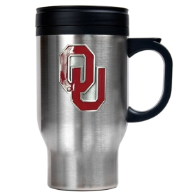 Oklahoma Sooners 16oz Stainless Steel Travel Mug