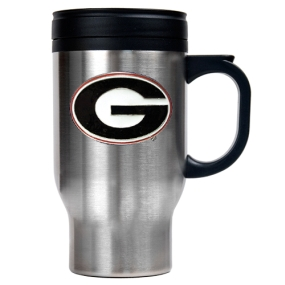 Georgia Bulldogs 16oz Stainless Steel Travel Mug