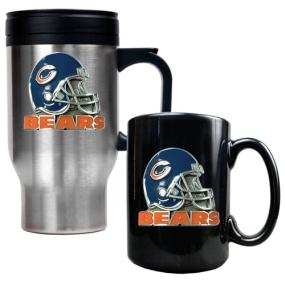 Chicago Bears Travel Mug & Ceramic Mug set