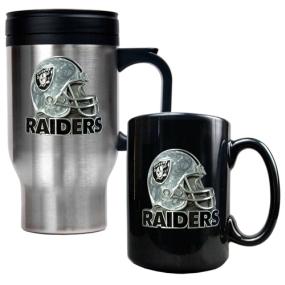 Oakland Raiders Travel Mug & Ceramic Mug set