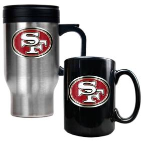 San Francisco 49ers Travel Mug & Ceramic Mug set