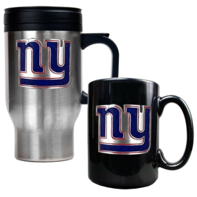 New York Giants Travel Mug & Ceramic Mug set