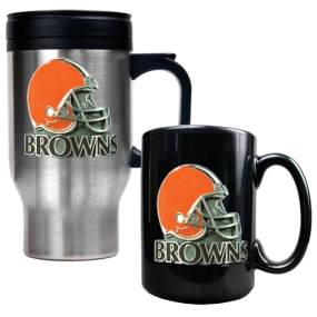 Cleveland Browns Travel Mug & Ceramic Mug set
