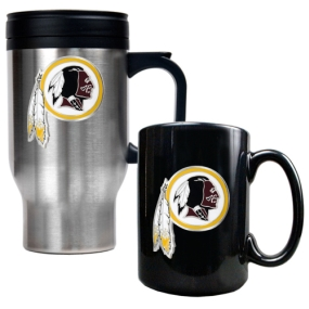 Washington Redskins Travel Mug & Ceramic Mug set