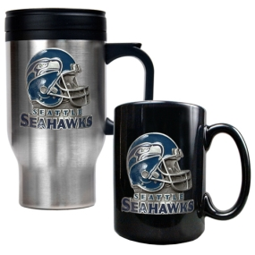 Seattle Seahawks Travel Mug & Ceramic Mug set