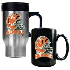 Cincinnati Bengals Travel Mug & Ceramic Mug set