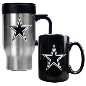 Dallas Cowboys Travel Mug & Ceramic Mug set