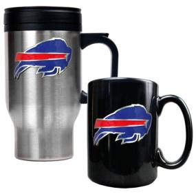 Buffalo Bills Travel Mug & Ceramic Mug set