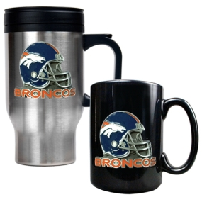 Denver Broncos Travel Mug & Ceramic Mug set