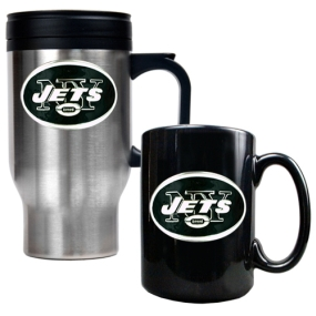 New York Jets Travel Mug & Ceramic Mug set