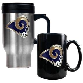 Saint Louis Rams Travel Mug & Ceramic Mug set