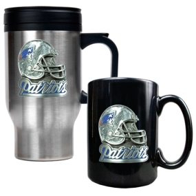 New England Patriots Travel Mug & Ceramic Mug set