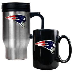New England Patriots Travel Mug & Ceramic Mug set