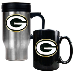 Green Bay Packers Travel Mug & Ceramic Mug set