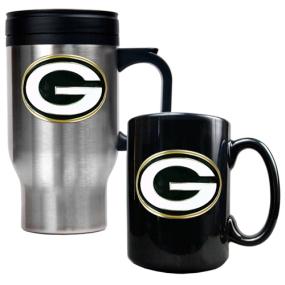 Green Bay Packers Travel Mug & Ceramic Mug set