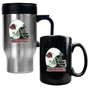 Arizona Cardinals Travel Mug & Ceramic Mug set