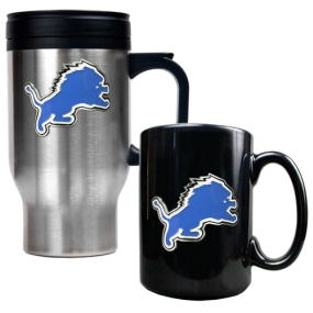 Detroit Lions Travel Mug & Ceramic Mug set