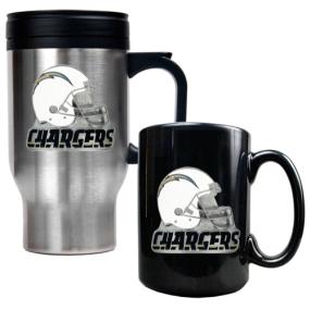 San Diego Chargers Travel Mug & Ceramic Mug set