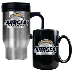 San Diego Chargers Travel Mug & Ceramic Mug set