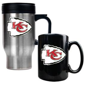Kansas City Chiefs Travel Mug & Ceramic Mug set