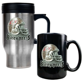 Tampa Bay Buccaneers Travel Mug & Ceramic Mug set