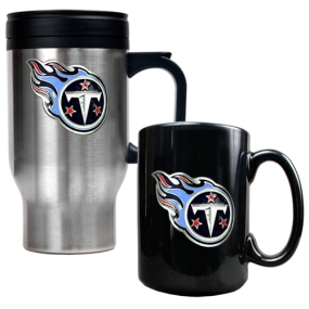 Tennessee Titans Travel Mug & Ceramic Mug set