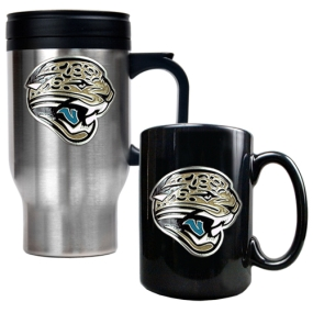 Jacksonville Jaguars Travel Mug & Ceramic Mug set