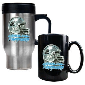 Carolina Panthers Travel Mug & Ceramic Mug set
