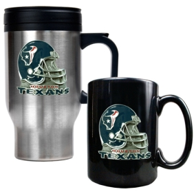 Houston Texans Travel Mug & Ceramic Mug set