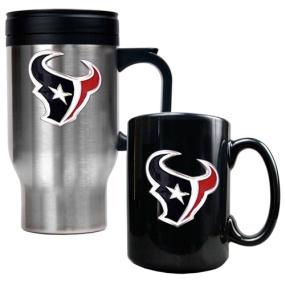 Houston Texans Travel Mug & Ceramic Mug set