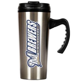 Milwaukee Brewers 16oz Stainless Steel Travel Mug