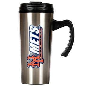 New York Mets 16oz Stainless Steel Travel Mug