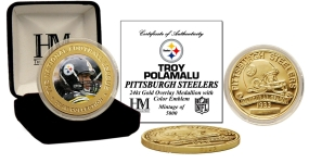 Troy Polamalu 24KT Commemorative Coin