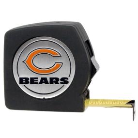 Chicago Bears 25' Black Tape Measure