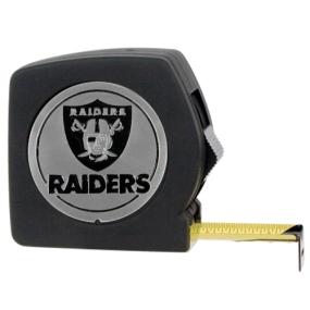Oakland Raiders 25' Black Tape Measure
