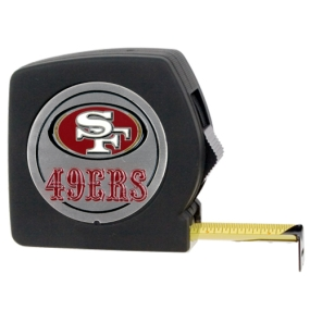 San Francisco 49ers 25' Black Tape Measure